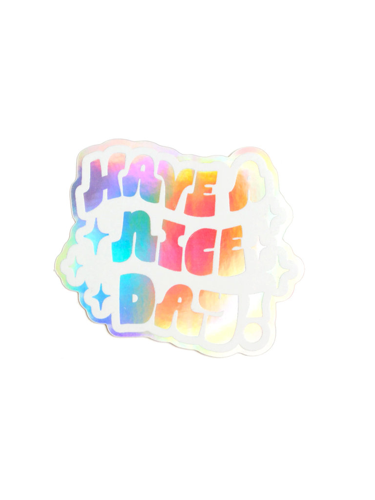 Holographic Nice Day Sticker
