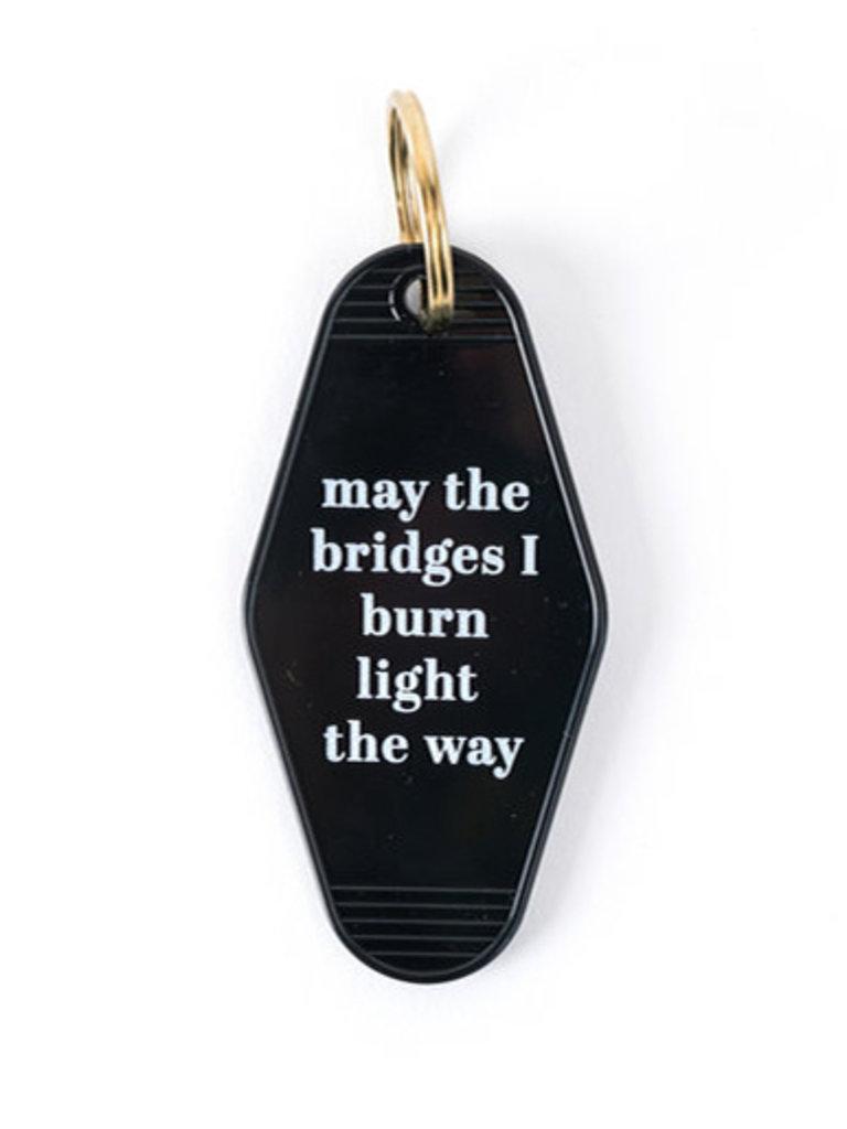Burnt Bridges Key Tag