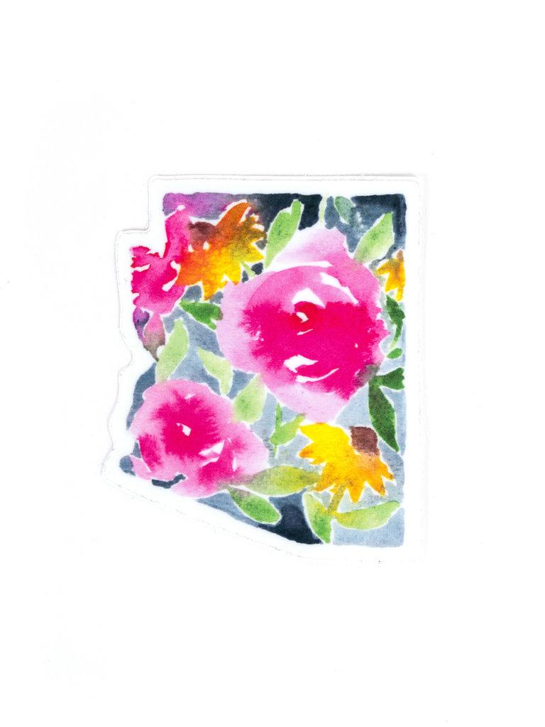 Bright Floral Arizona Sticker
