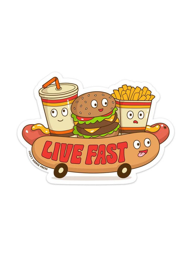 Live Fast Sticker