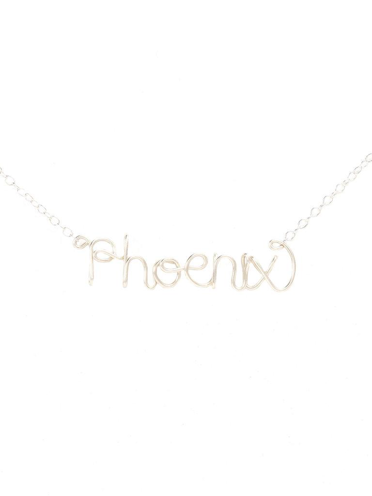 Phoenix Letter Necklace
