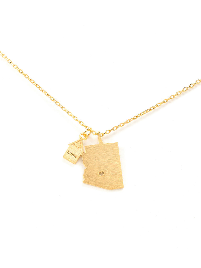 Arizona State Necklace Gold