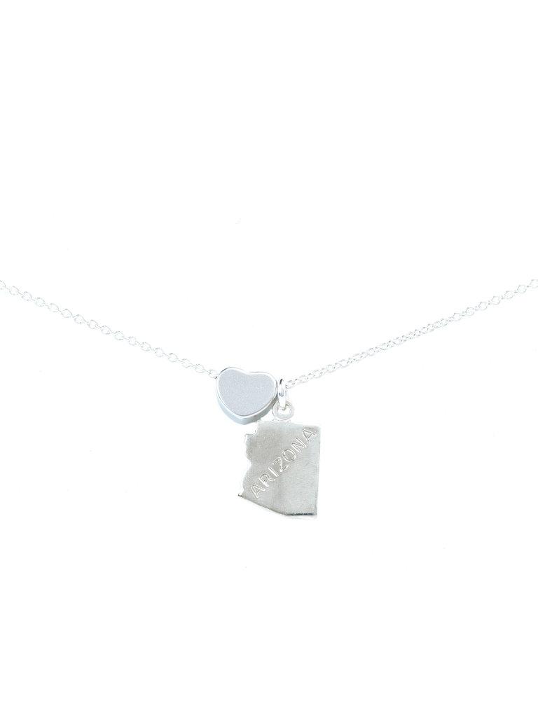 I Heart Arizona Necklace Silver