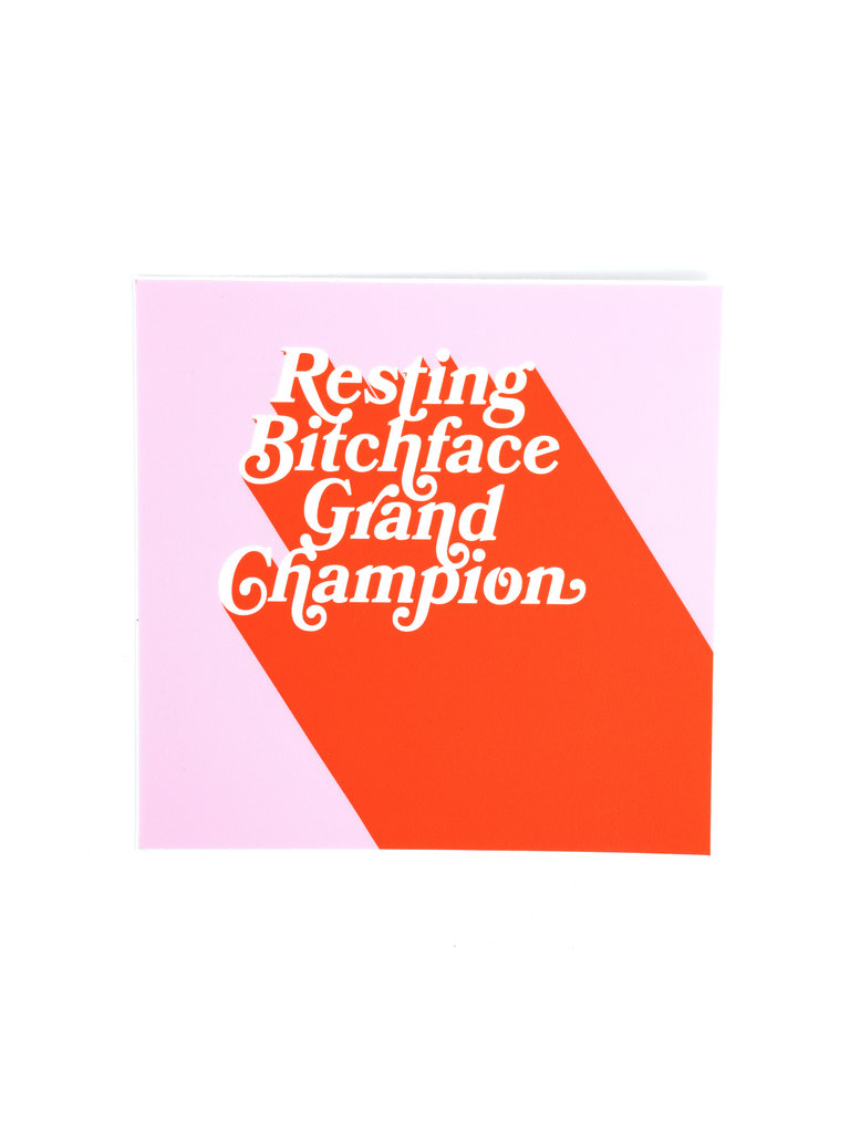 Resting B*tch Face Sticker