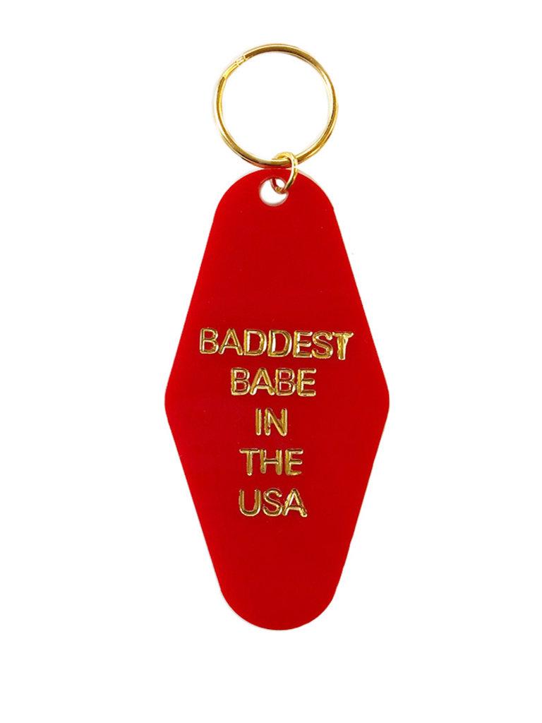 Baddest Babe Key Tag