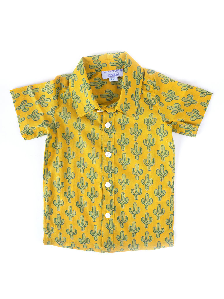 6 Month Cactus Button Up