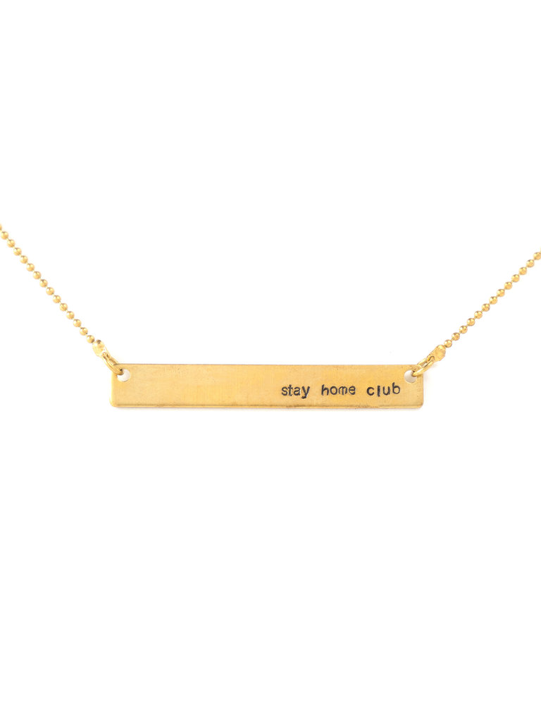 Stay Home Club Necklace
