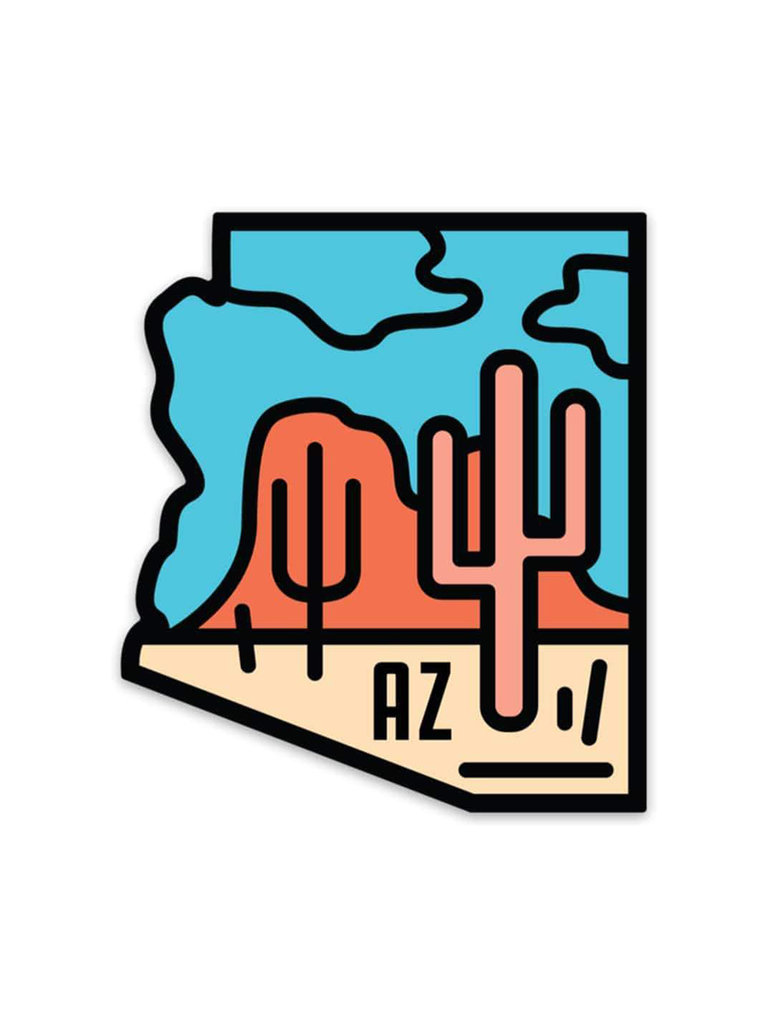 AZ Pink Cactus Sticker