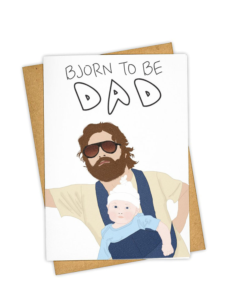 Bjorn To Be Dad Card
