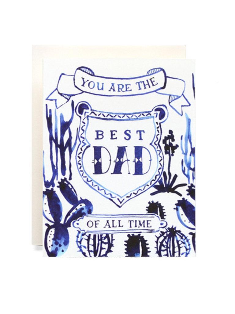 Best Dad Indigo Cactus Card