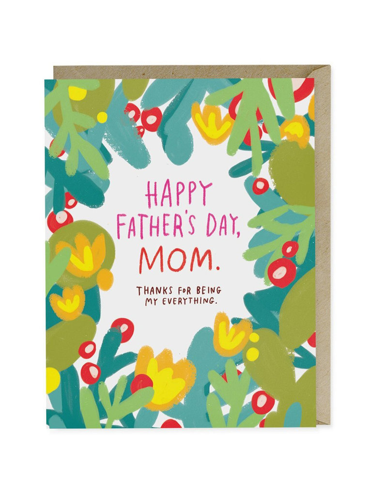 Happy Father's Day Mom Card