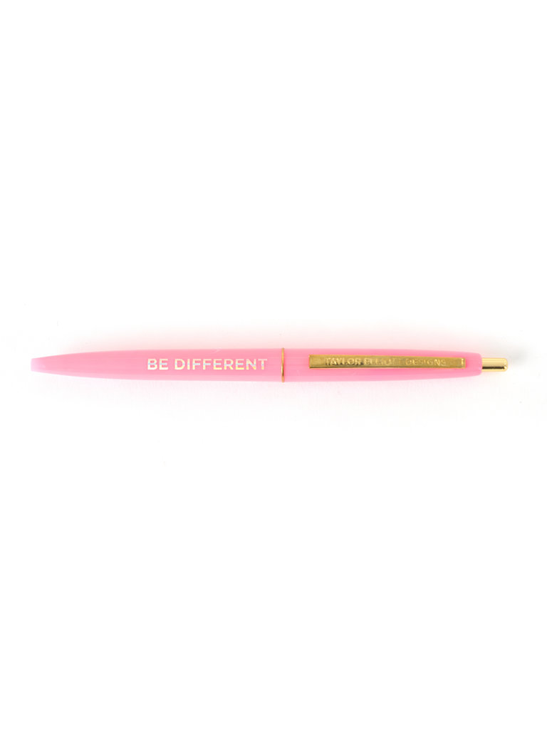 Bright Pink Be Different Pen
