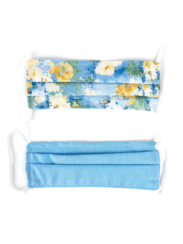 Floral Blue Adult Face Mask