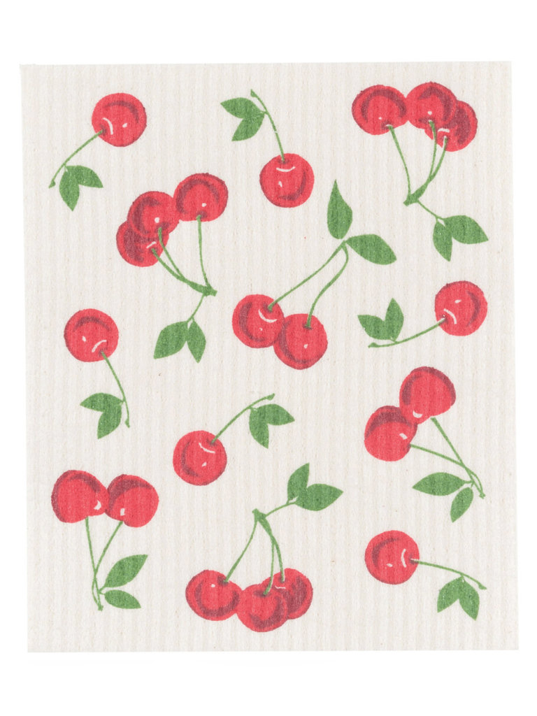 Cherries Swedish Dishcloth