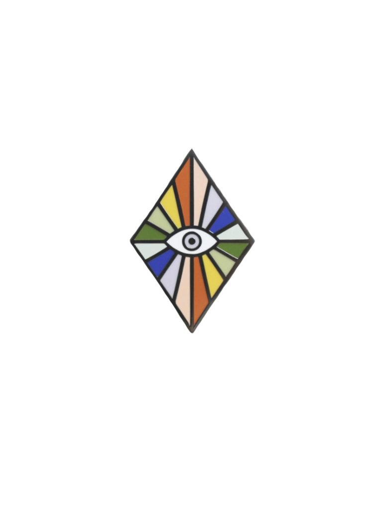 Rainbow Eye Lapel Pin