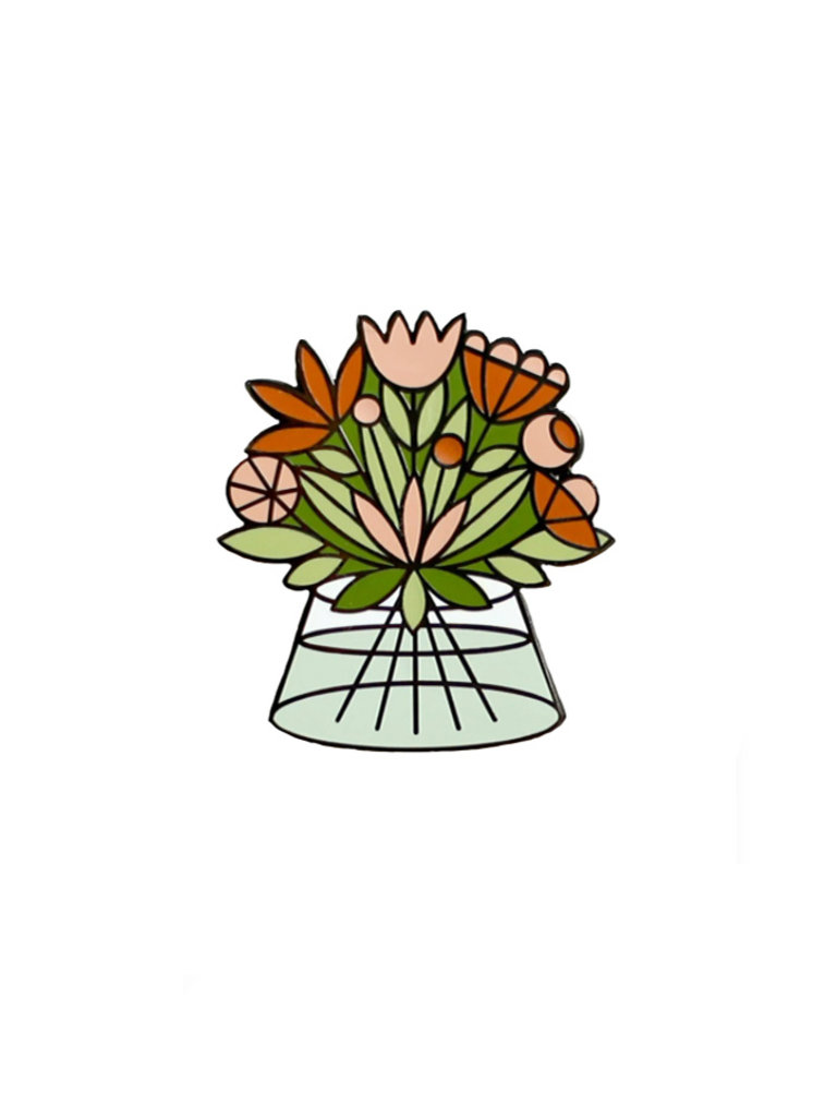 Flower Bouquet Lapel Pin