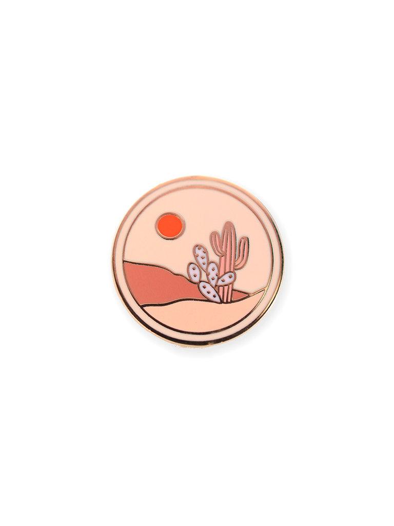 Cactus Medallion Lapel Pin