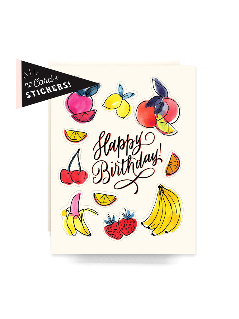 Fruity Birthday Sticker Card