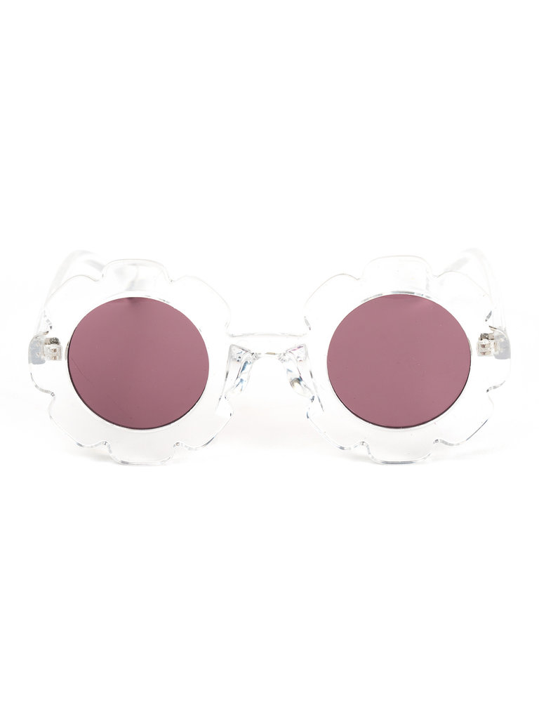 Sally Sunglasses, Clear Pink