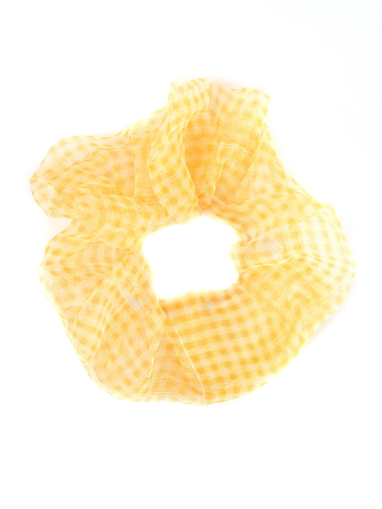 Chiffon Scrunchie, Yellow