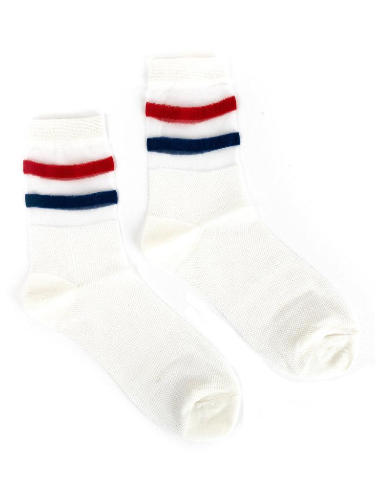 Trini Socks, Blue & Red