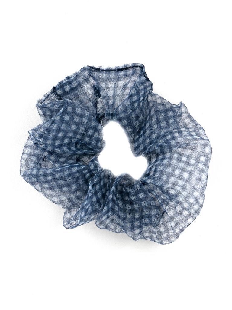 Chiffon Scrunchie, Blue