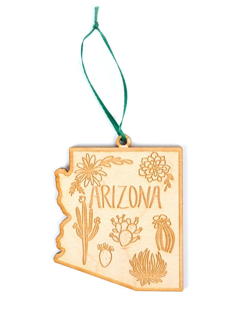 Arizona Wood Ornament