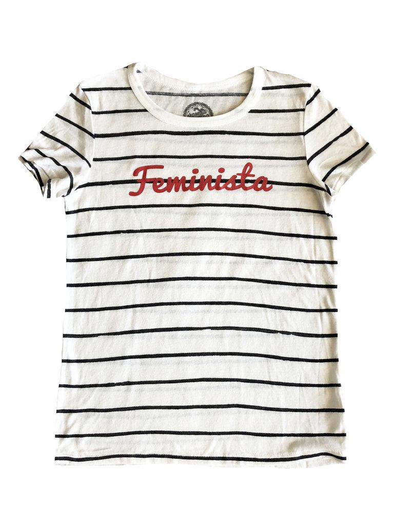 Striped Feminista Tee