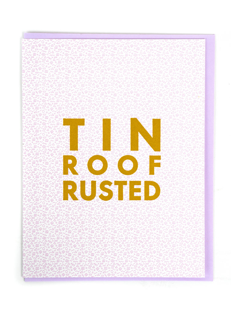 Tin Roof Card