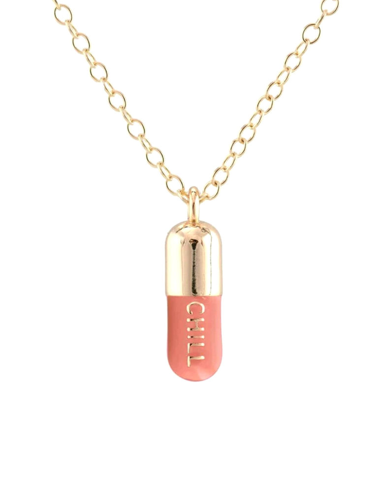 Pink Chill Pill Necklace