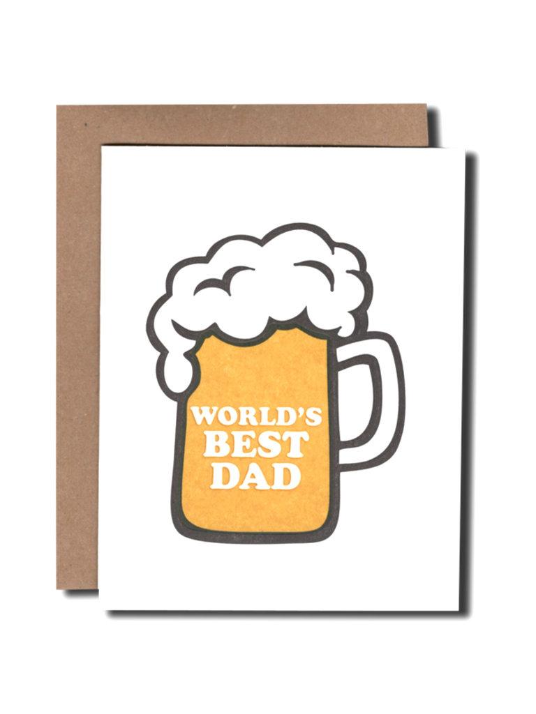 World's Best Dad Beer Card