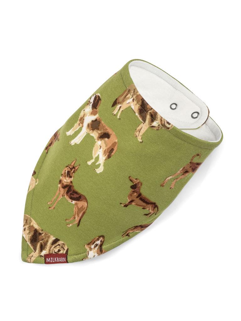 Green Dog Kerchief Bib