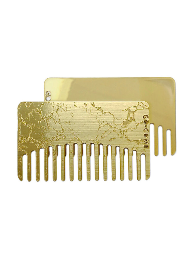 Brass Marble Mirror Go-Comb
