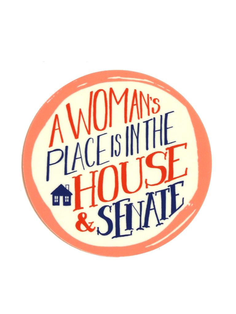Woman's Place Sticker