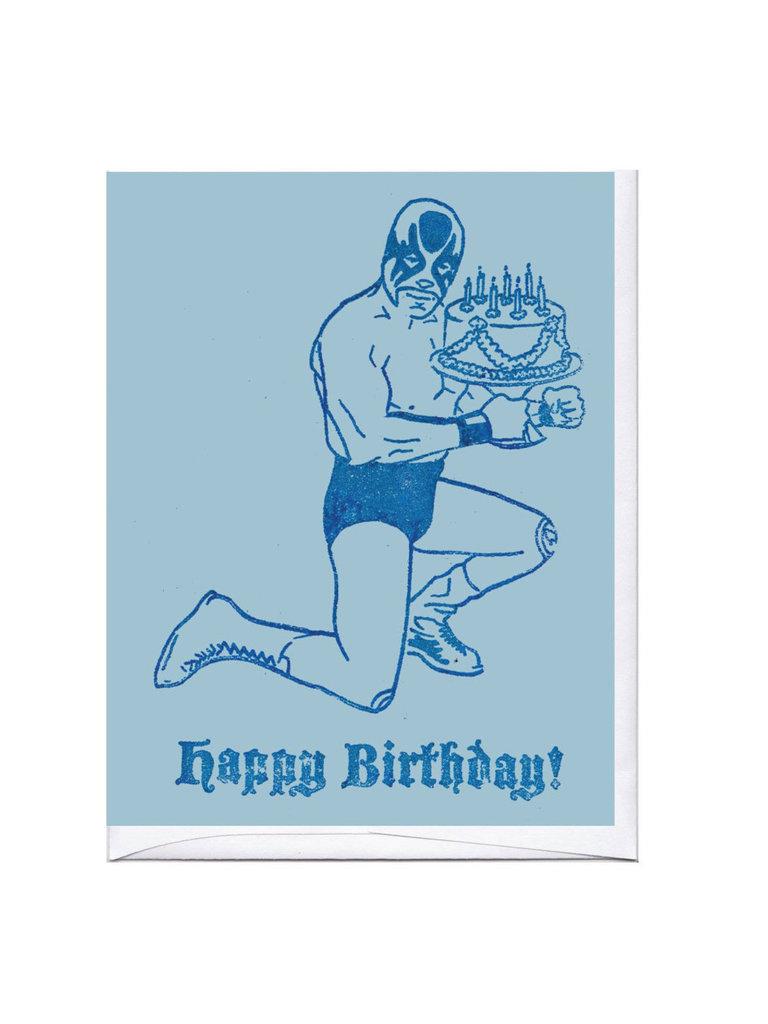 Happy Birthday Luchador Card
