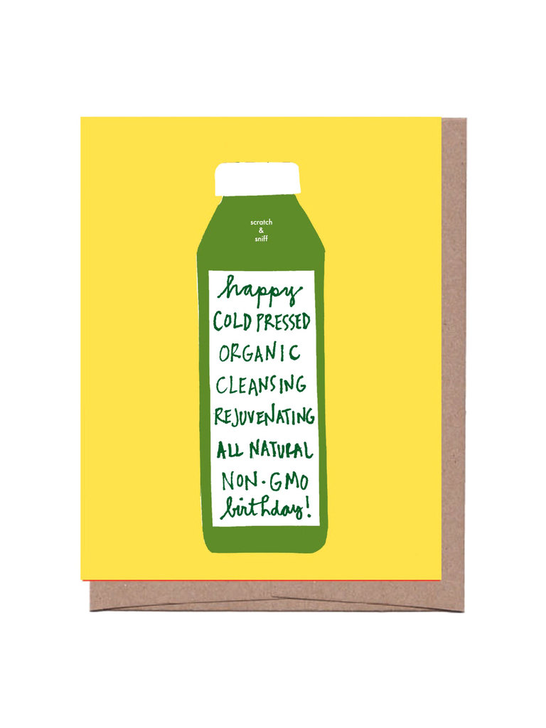 Happy Cold Pressed Birthday Card
