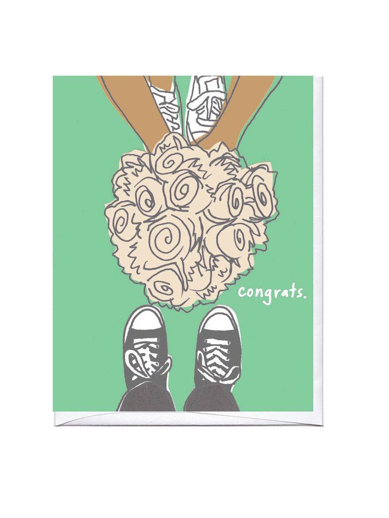 Sneaker Bouquet Congrats Card