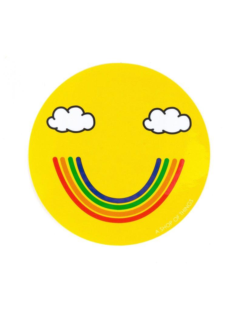 Smiley Rainbow Sticker