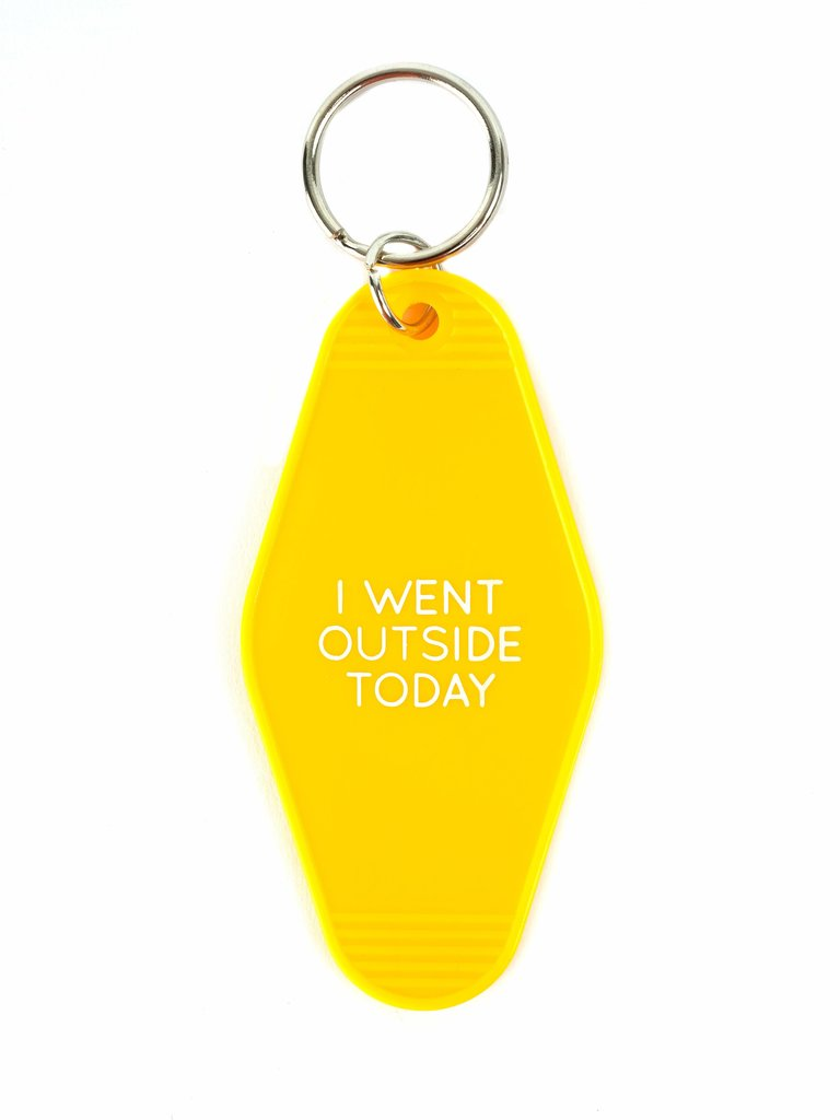 Went Outside Keychain