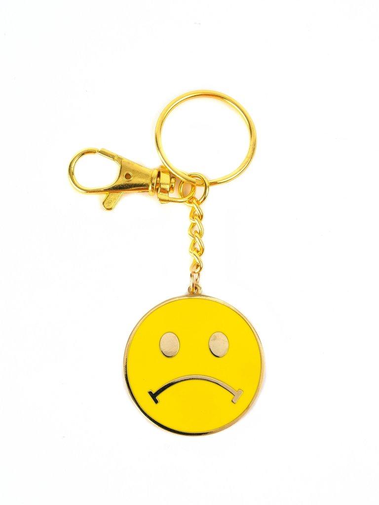 Sad Smiley Face Key Chain