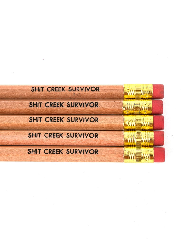 Shit Creek Survivor Pencil
