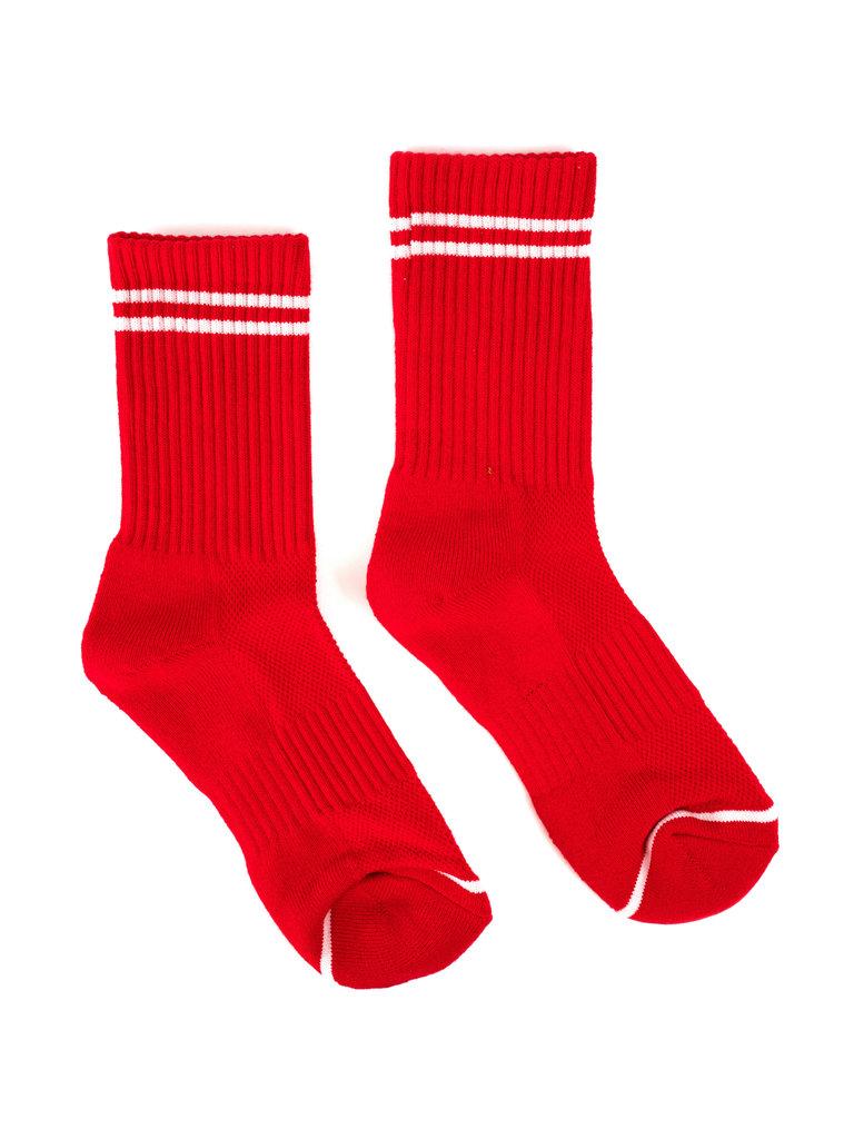 Boyfriend Socks, Red