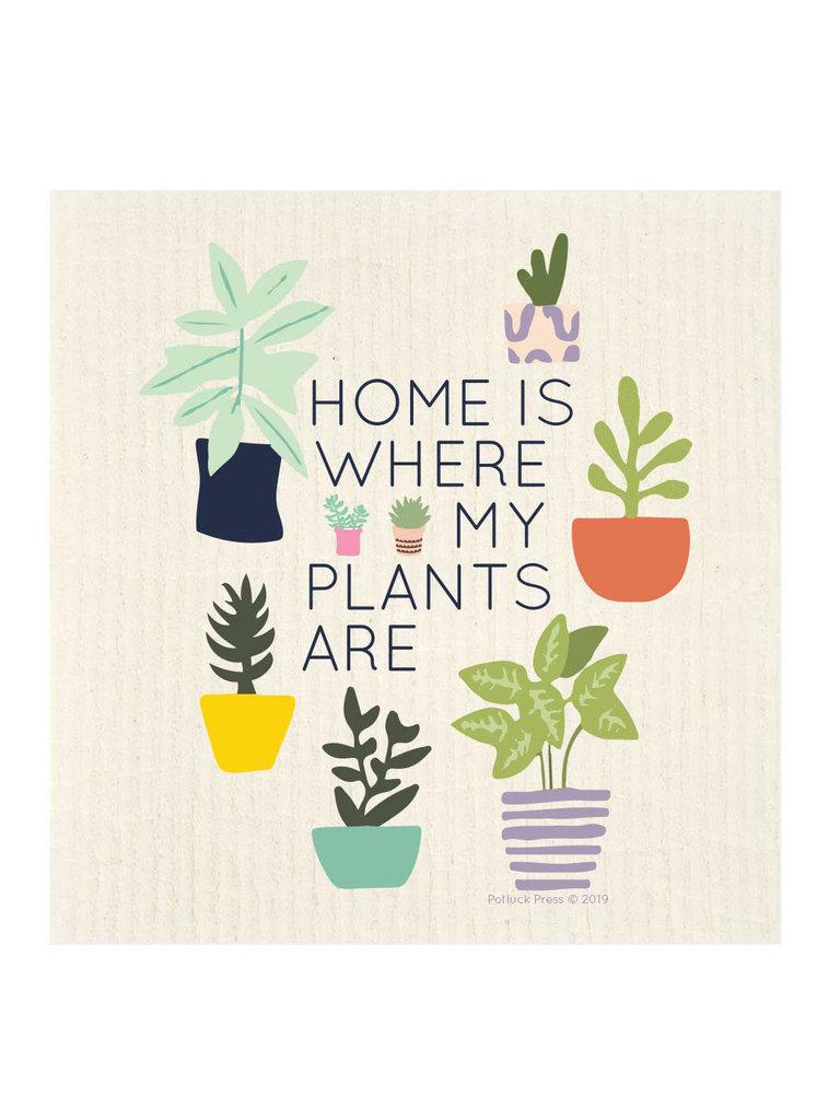 Where My Plants Are Swedish Dishcloth