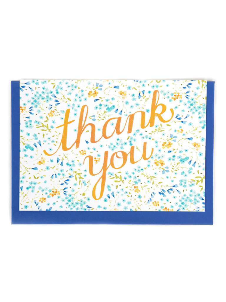 Light Floral Thank You Card