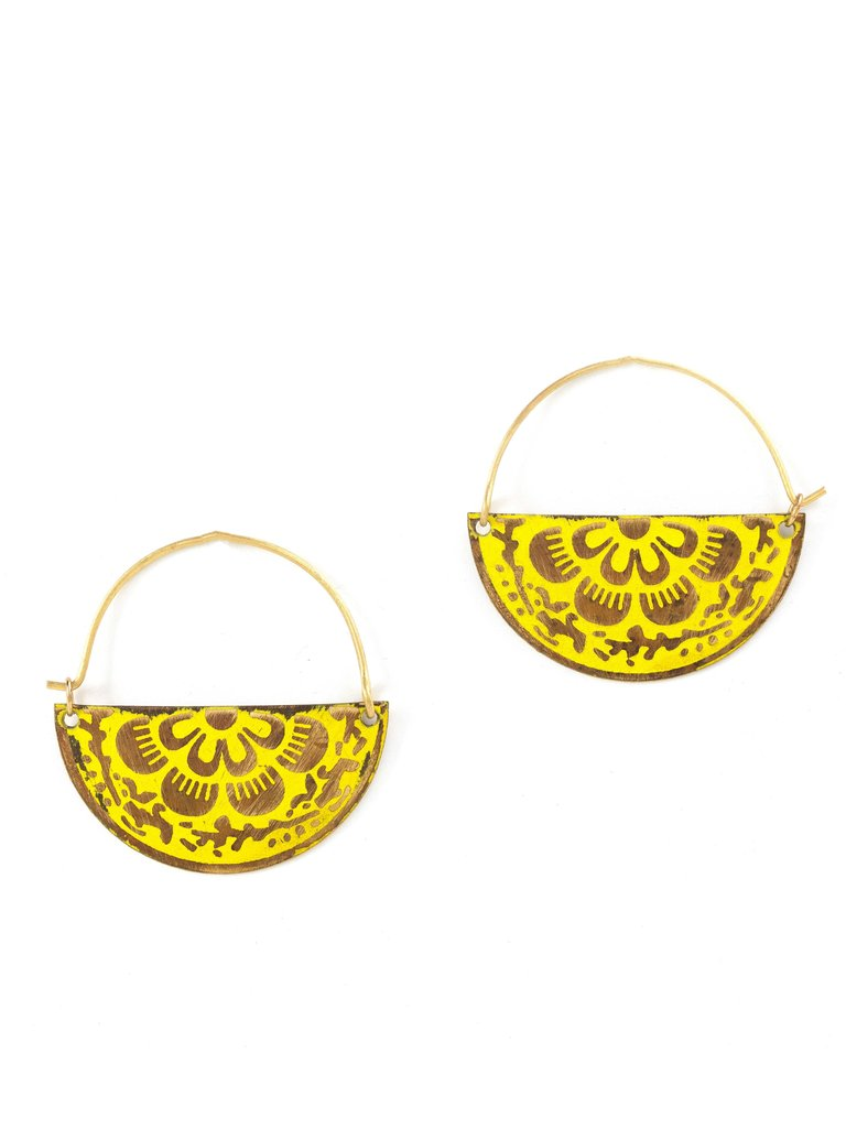 Flower Embossed Earrings