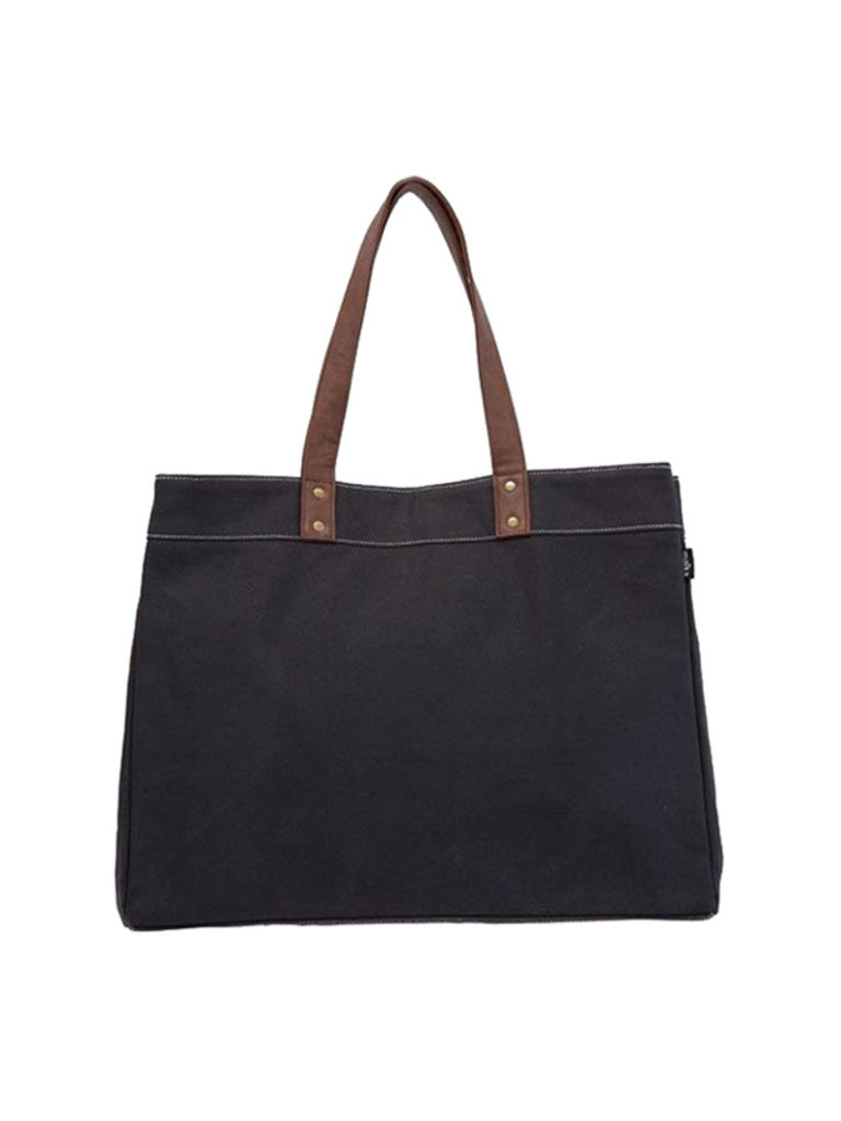 Carry All Tote, Waxed Black