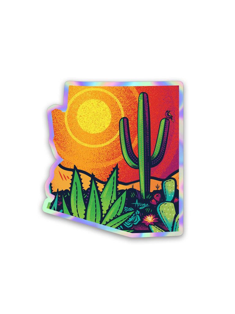 Holographic Pop Desert Sticker