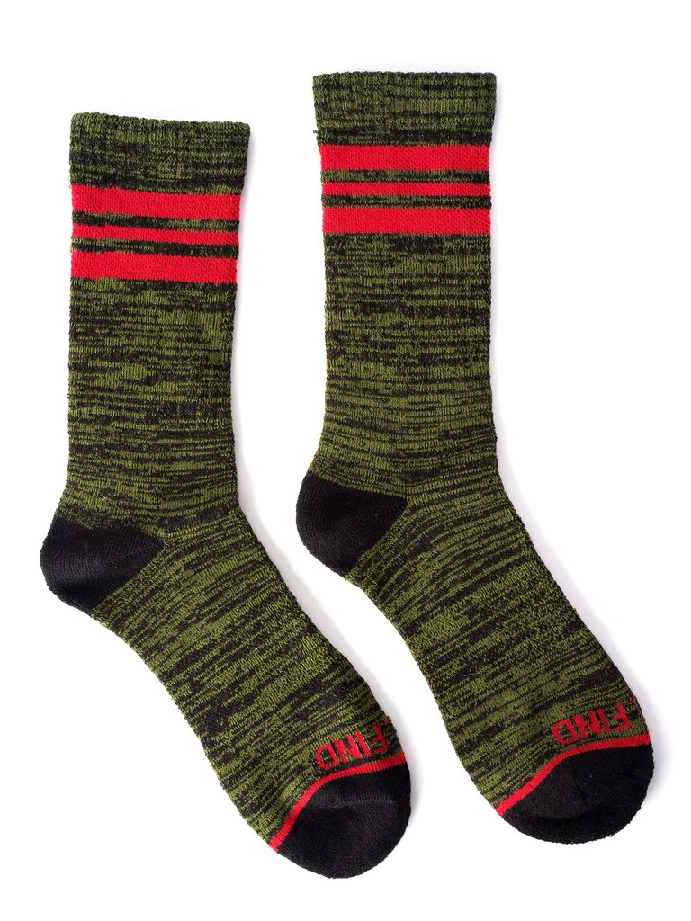 Seek & Find Olive Socks