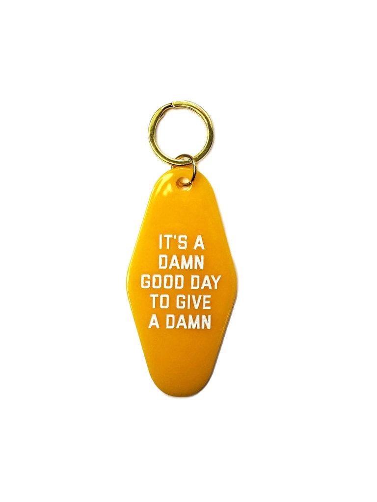 Give a Damn Keychain