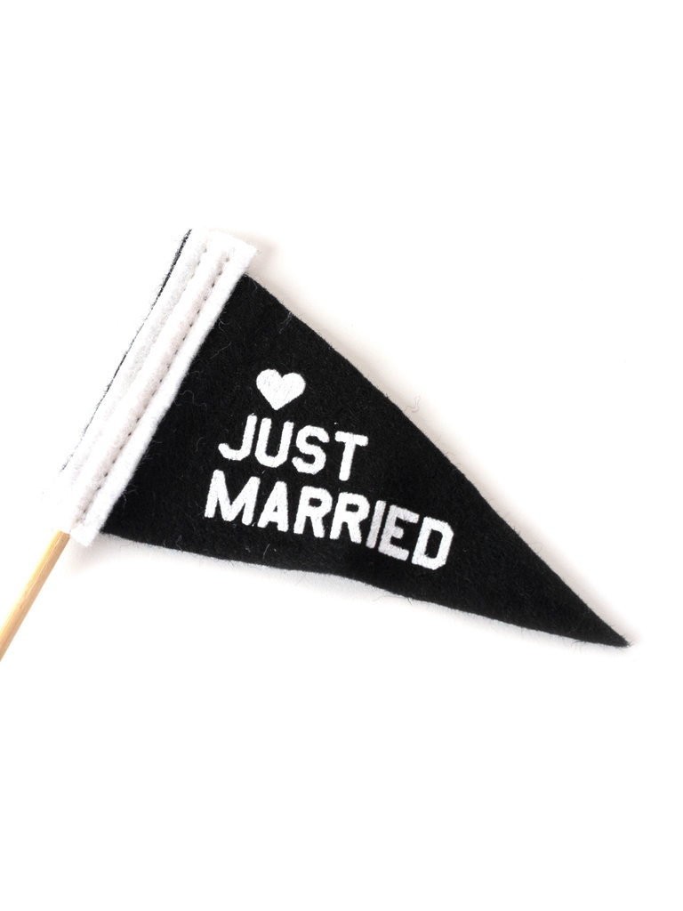 Micro Mini Just Married Pennant